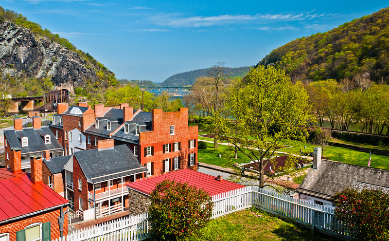View of Town from Harper House, Harpers Ferry, WVA