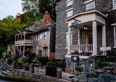 Photo of restaurants along Washington Street, Harpers Ferry, West Virginia