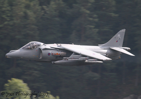 ZD406/'35' (800 SQN marks) Harrier GR.9 - 27th September 2007.