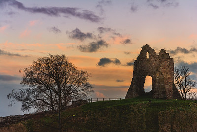 Tutbury Castle before the storm