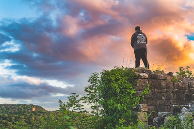 Beeston Castle sunset