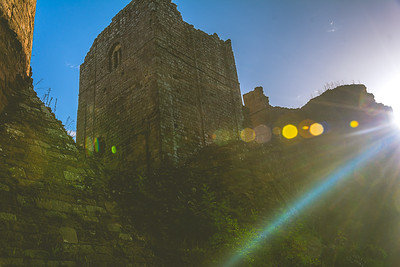 Sunrise at Goodrich Castle