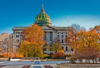 Autumn View of State Capitol Building, Harrisburg, Pennsylvania