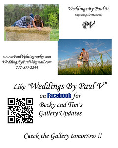 "Congratulations to Becky and Tim ! I will be uploading images from their Wedding Day continually over the next few weeks, so check back soon. Like ""Weddings By Paul V"" on Facebook for Gallery updates. In the mean time check out the video below of their Engagement session"