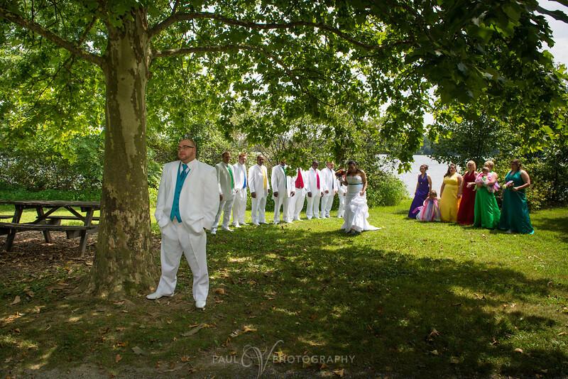First Look at Memorial Lake, Wedding