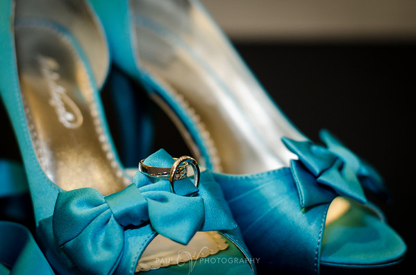 Blue Wedding Shoes with rings