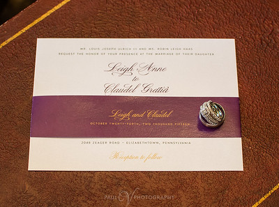 Invitation with Wedding Rings