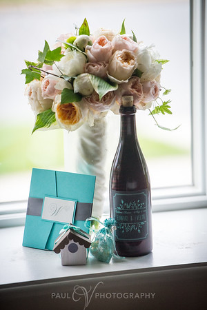 Personalized Wine Bottle Flower Shot