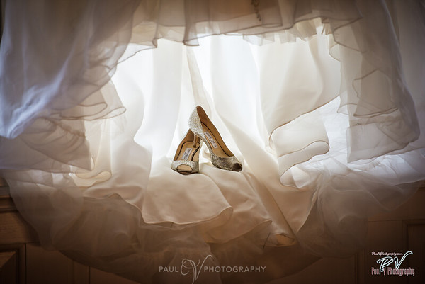 Wedding shoes detail photo