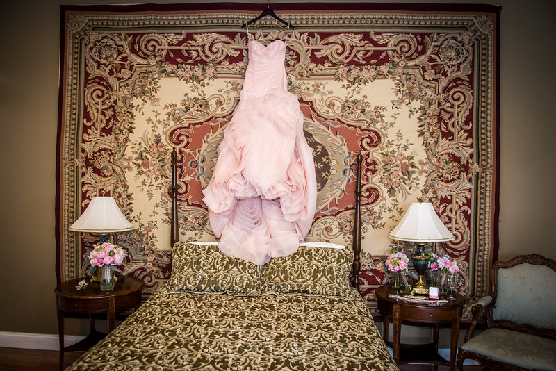 Pink Wedding Gown Photography at Cameron Estates