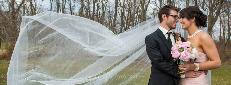 Jessica and Brandon's Cathedral Veil Wedding Photography at Cameron Estates.