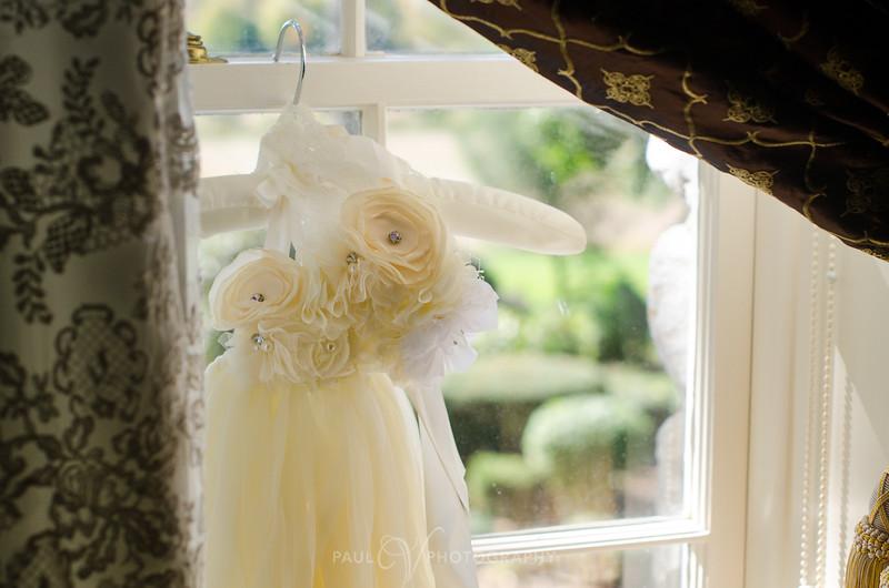 Flower Girl Dress in Window