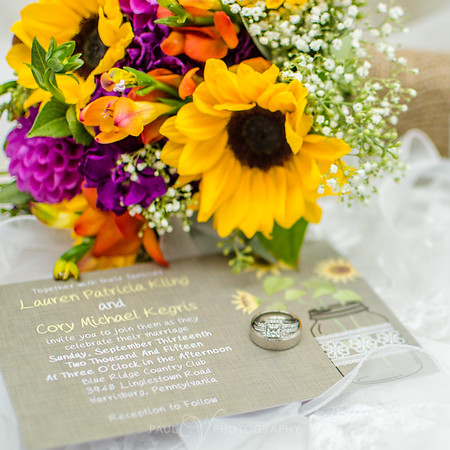 Wedding Details at Blue Ridge Country Club