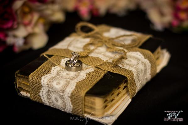Wedding Rings on Rustic Bible