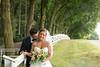 Bride and groom embrace at Linwood Estate