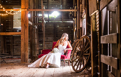 Rustic Barn Bridal portrait