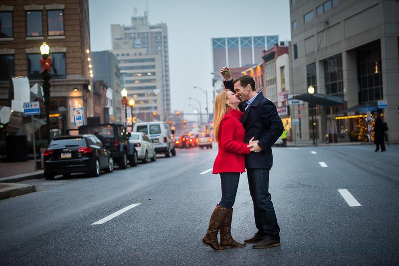 2nd Street Mistletoe Engagement