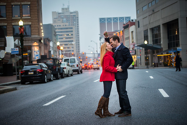 2nd Street Mistletoe Engagement