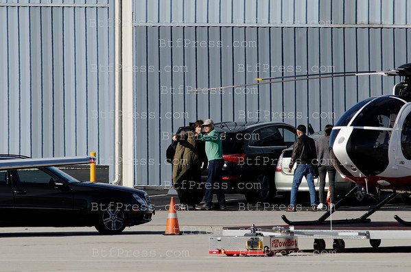 Harrison Ford takeoff from Santa Monica to his rank in Jackson Hole with Calista, Liam and families.