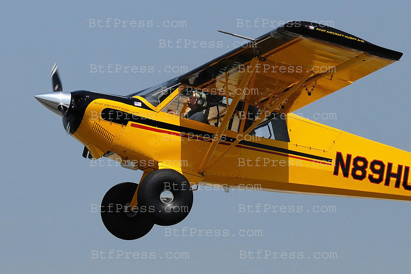Exclusive___ Harrison Ford look like Indiana Jones and takes off from Santa Monica airport in his Aviat A-1C 20.