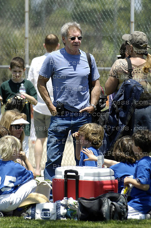 NO EXCLUSIVE-Harrison Ford and Calista Flockart and during her son Liam Baseball game.