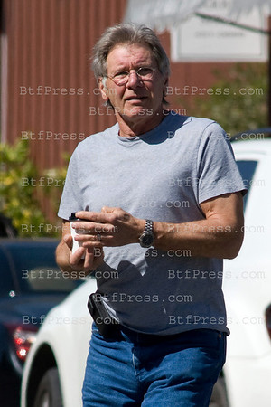 Harrison Ford stop in Brentwood to take a coffee,he is really good looking and in great shape.  In brentwood,Califonia on March 08, 2011