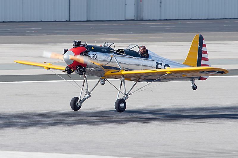 Harrison Ford flies his 1930 plane