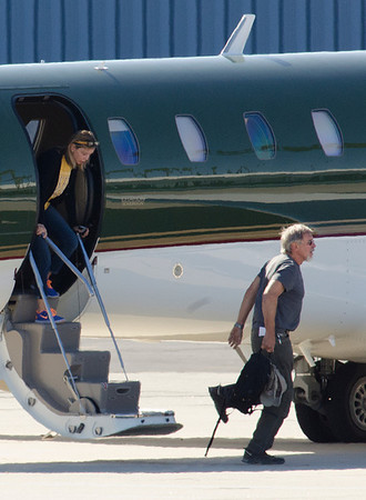Harrison Ford and family come back fron Caribbean