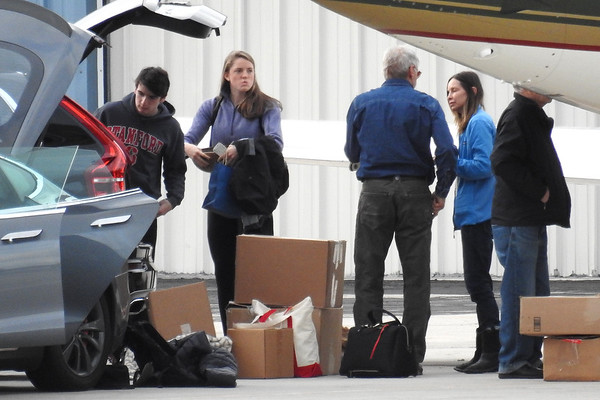 Harrison Ford and Family come back from Jackson Hole