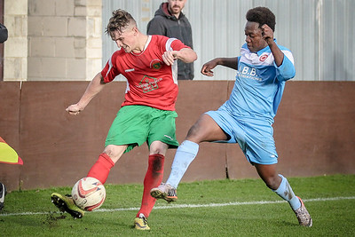 Ryan Sharrocks crosses the ball from the wing during the second half of the NCEL Premier League game.
