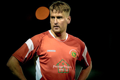 Mike Morris pulled on the Harrogate Railway shirt for the first time since his return to Harrogate Railway. Taken during the Worksop Town NCEL Premier League game.