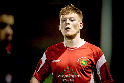 Lewis Riley during the second half of the NCEL Premier League game against Worksop Town.