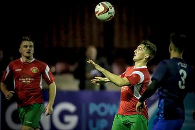Ryan Sharrocks goes to control the ball