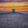 lifeguard tower sunset-9673