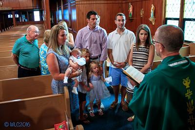 Charlie Hunter's Baptism at St  Marks Catholic Church on Harsens Island