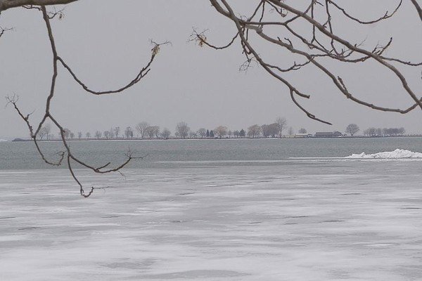 Club Island , you can see that the ice is starting to melt