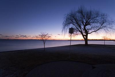 Shot just after sunset