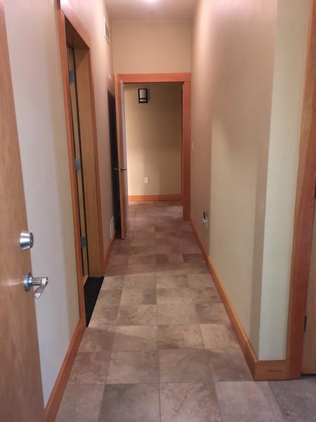 Machine room is first door on left