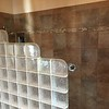 Glass block in master shower stall