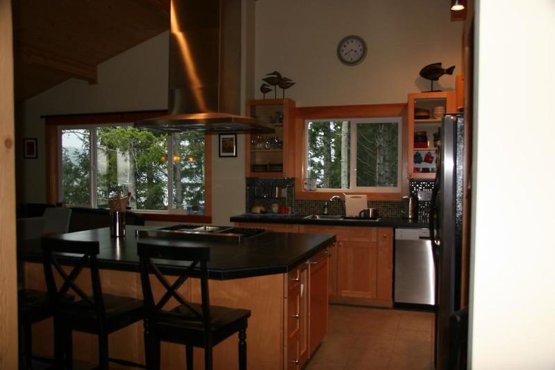 Honed granite counter tops.