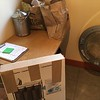 small table in laundry room