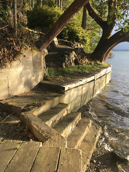 Bulkhead and stairs