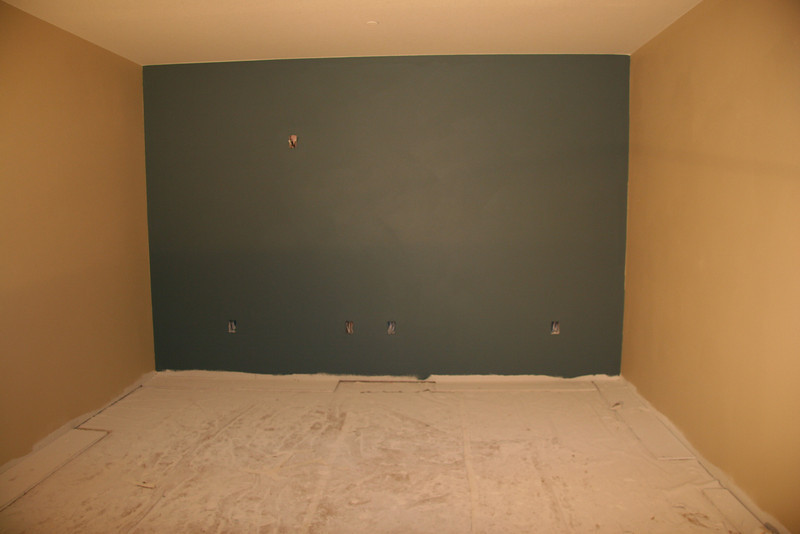 back of media room / master bedroom wall  (note - this is also set up as a media room, should it not be used as a master bedroom)