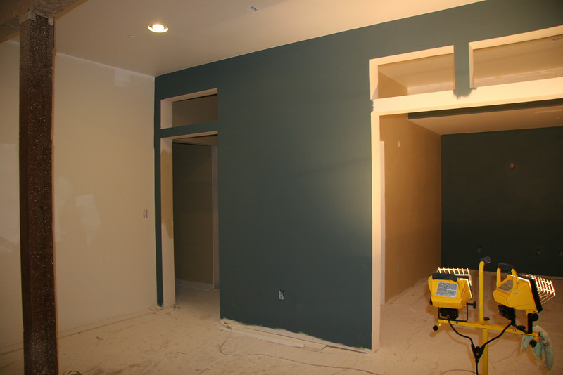 master living area toward master bedroom / media and hall alcove to bathroom