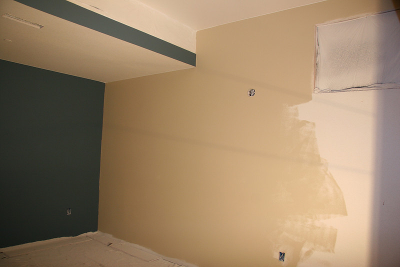south side of media/master - ran out of beige paint (putnam ivory)
