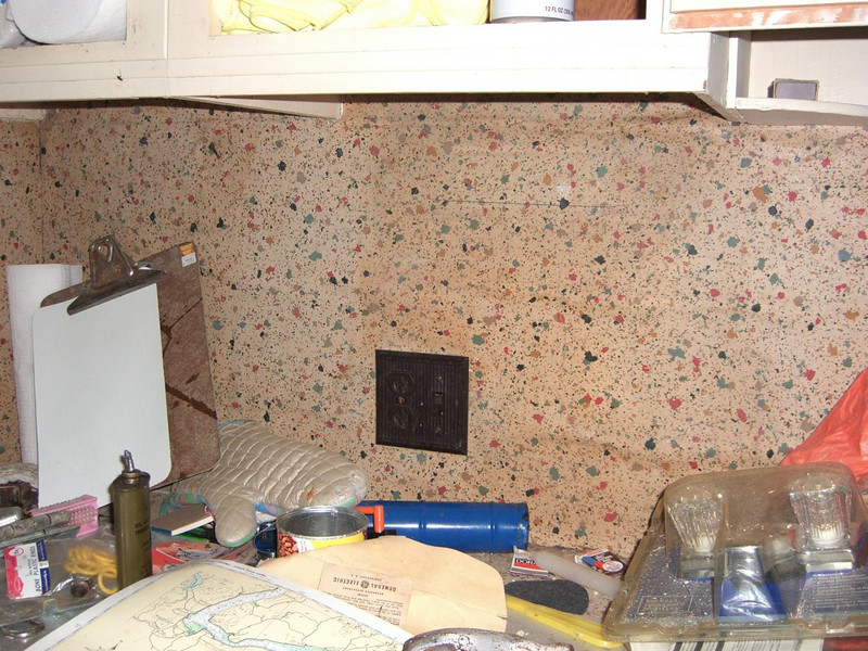 "02 no clue how much water and mold is behind the ""backsplash"" or cabinets.... it's way too scary to think about."