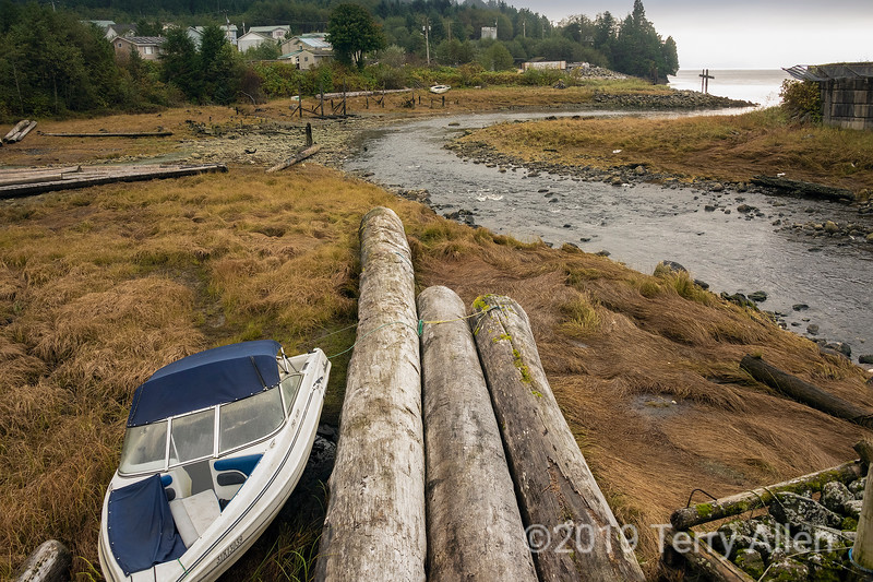 Mouth of the Gabion salmon river, Hartley Bay, BC