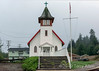 Beautiful little white church, Gitgat'at village of Hartley Bay, British Columbia