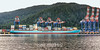 Fairview container terminal with Maersk Kokura, Prince Rupert, British Columbia