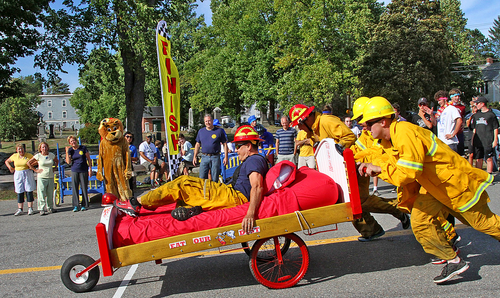 . The FireBalls Team heads out on their last lap of the race.Nashoba Valley Voice Photo by David H. Brow